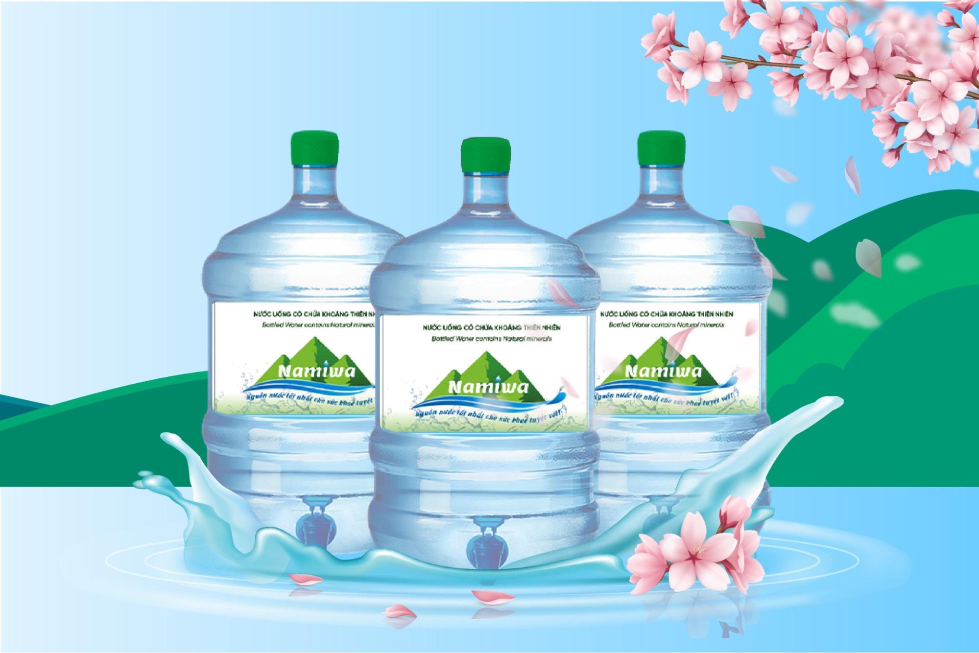 Nước khoáng Namiwa được khai thác từ nguồn khoáng nóng Kim Bôi Hoà Bình nổi tiếng tốt cho sức khỏe